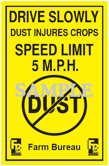Dust Injures Crops